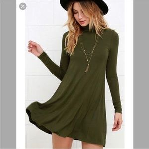 NWT Lulu's West Indies Long Sleeve Mock Neck Dress